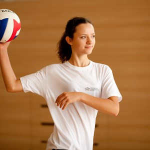 Secondary Girl Playing Volleyball
