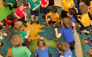 nursery students learning language through song